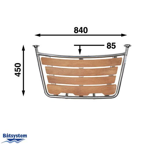 Båtsystem - Badplattform Segelbåt 100 x 45 cm