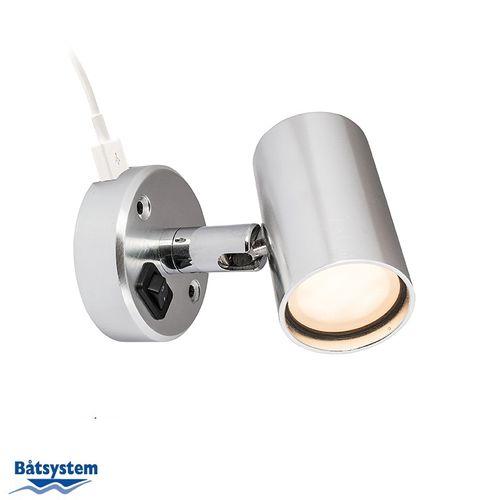 Båtsystem - Läslampa LED Tube D2 med USB uttag