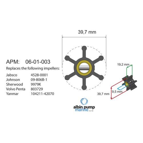 Albin Pump Marine - Impeller Albinpump 06-01-003