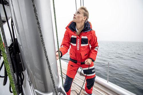 Helly Hansen - Helly Hansen seglarbyxor Dam SALT COASTAL Röd