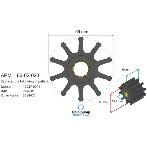 Albin Pump Marine - Impeller 06-02-023