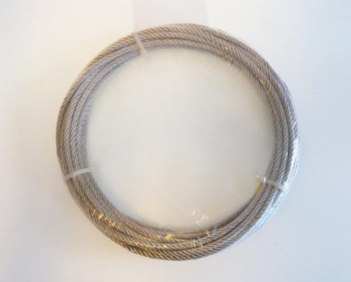 Gunnebo Industrier - 10 meter stål line galvad - 1 mm