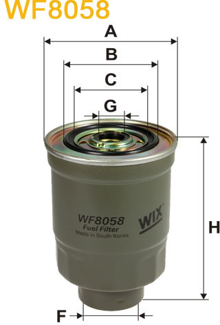 WIX Filtration - Brændstoffilter  WF8058