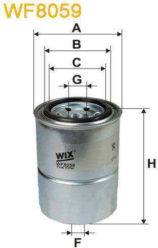 WIX Filtration - Bränslefilter WF8059