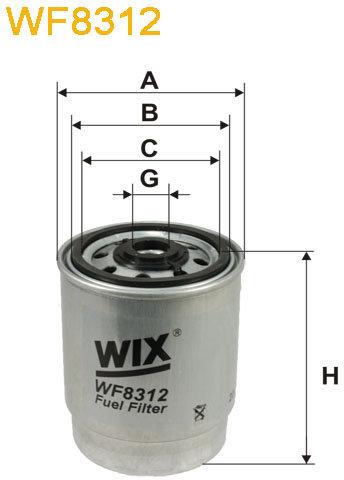 WIX Filtration - Bränslefilter WF8312