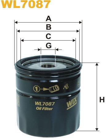 WIX Filtration - Oljefilter WL7087