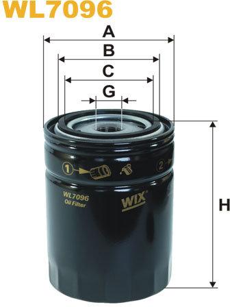 WIX Filtration - Oljefilter WL7096
