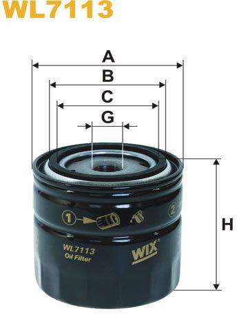 WIX Filtration - Oljefilter WL7113
