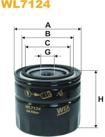 WIX Filtration - WIX Oliefilter WL7124