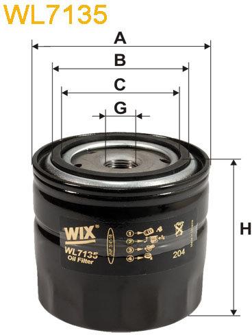 WIX Filtration - Oljefilter WL7135
