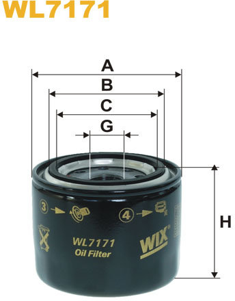 WIX Filtration - Oliefilter WL7171
