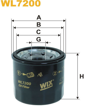 WIX Filtration - Oliefilter WL7200