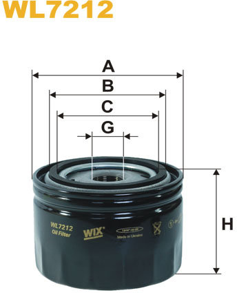 WIX Filtration - WIX Oliefilter WL 7212